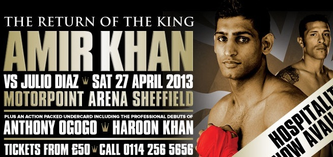 Amir Khan vs Julio Diaz Live Stream