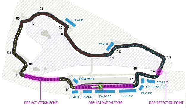 Australian Grand Prix map