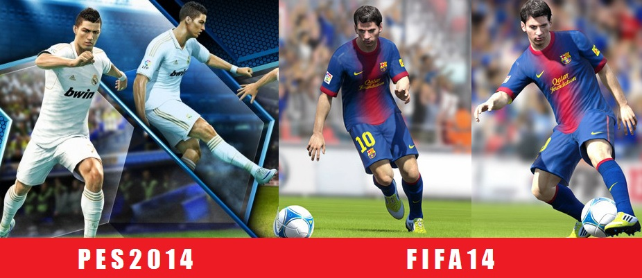 FIFA 14 vs Pes 2014 graphic comparisons