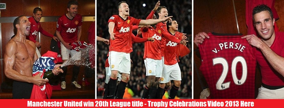 Manchester United celebrate Premier League title video pictures