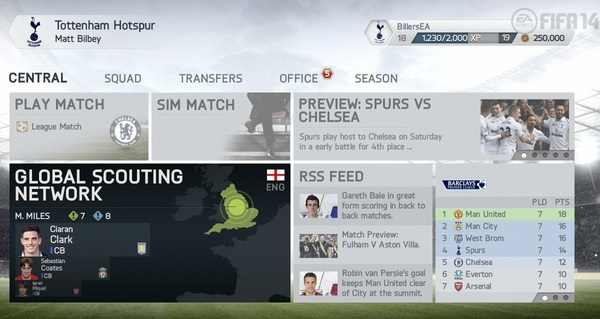 FIFA 14 New Career Mode features