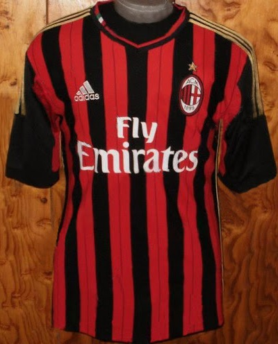 sale retailer 7048a 71395 AC Milan 2014 Home Away Shirts - Official 3rd Kit Golden