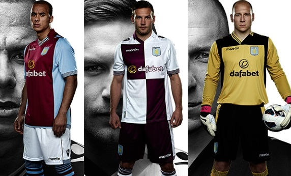 AVFC home away kits 2014