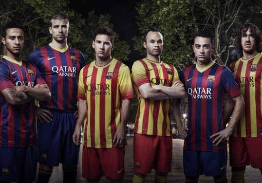 Barcelona kit 2013-2014 official release