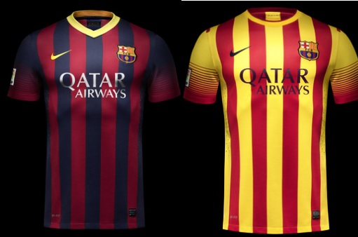 Official Barcelona 2014 Shirts home away kits