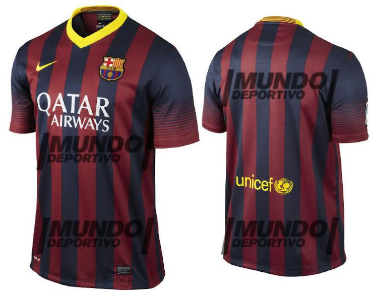 FC Barcelona 2013-14 Home Away Shirts - Official Kits  FC Barcelona 20...