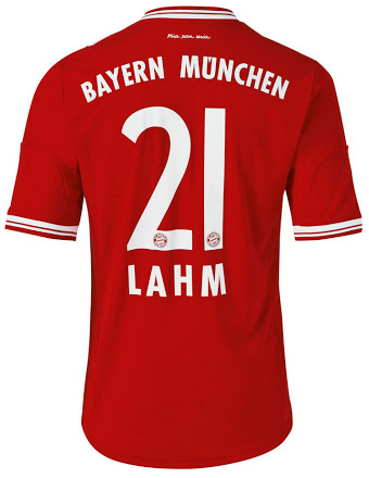 Bayern Munich home shirt 2014 backside