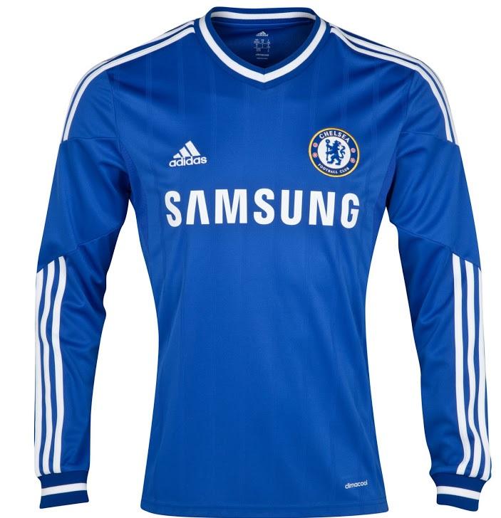 Chelsea long sleeves home shirt 2014