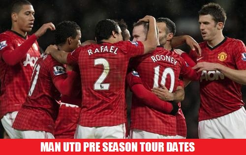 Man Utd USA Pre Season 2014 dates matches