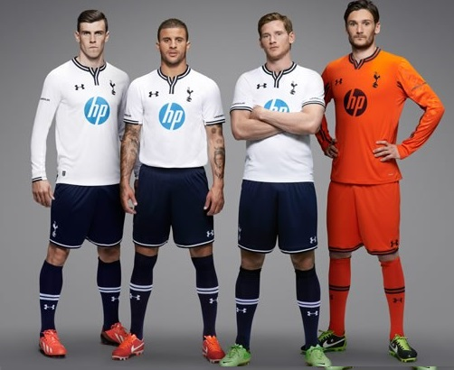 Tottenham 2013-14 home kits under armour