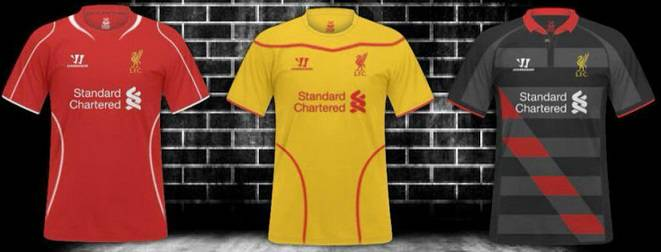 liverpool 2014-2015 home away third kits