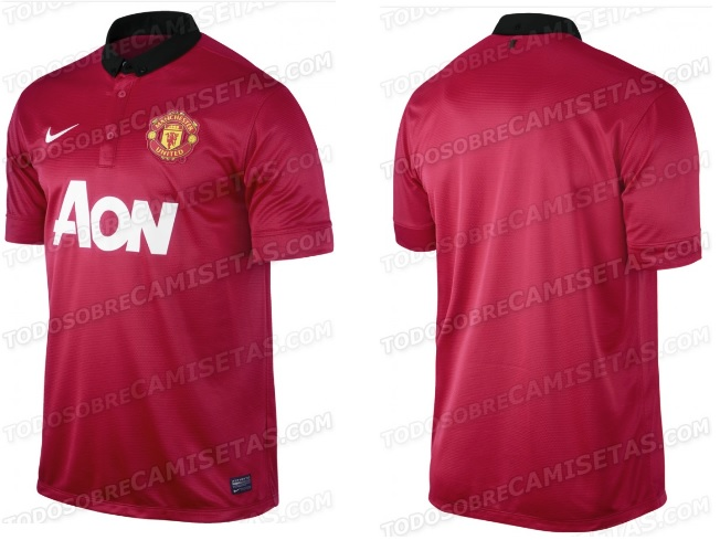 Man utd home shirts 2013-2014