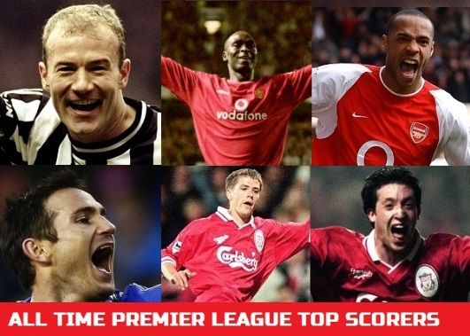 All time Premier league top goal scorers