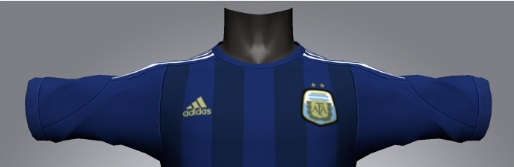 Argentina away kit dark blue 2014 world cup