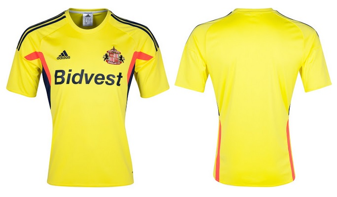 Sunderland away yellow kit