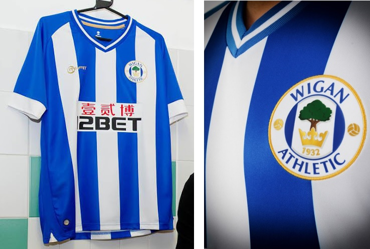Wigan Home kits misfit 2013-2014