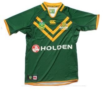 Australia Kangaroos Shirt RLWC 2013