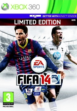 FIFA 14 Bale Messi on Cover UK