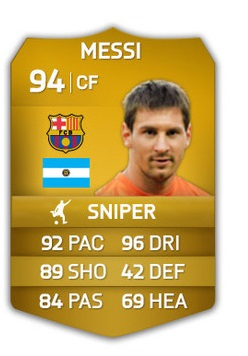 FIFA Ultimate Team Messi pack