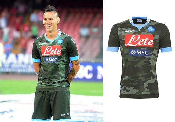 Napoli Kits 2013 2014 Home Away Third Official Shirts