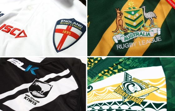 Official RLWC 2013 Jerseys