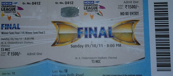 Champions League T20 Tickets 2013