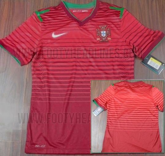 Official Portugal team kits 2014 World Cup