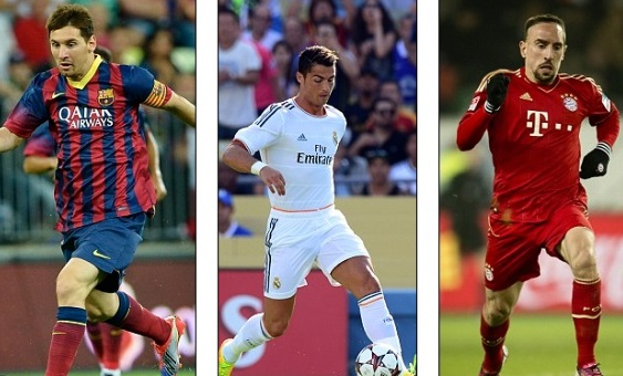 UEFA best Player away 2013