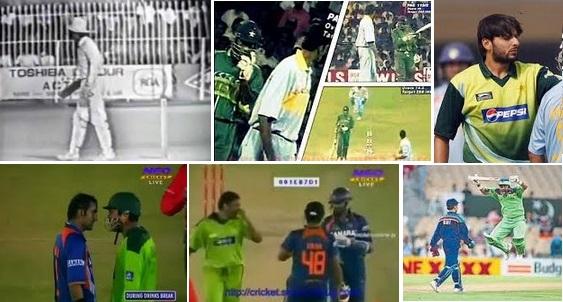 Worst Cricket Fights India vs Pakistan