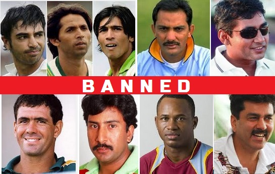 List of banned cricket players in the world