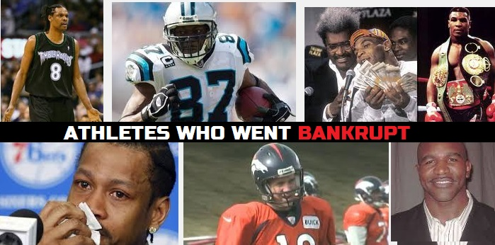Athletes who were broke for money