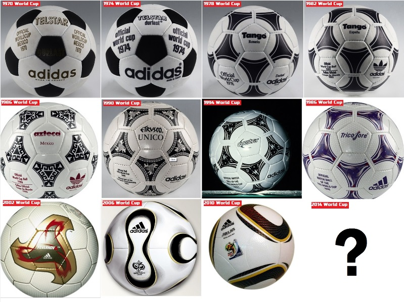 history of football world cup match balls