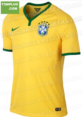 Brazil 2014 World Cup Kits home leaked
