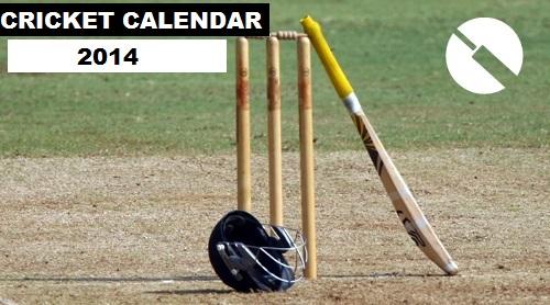 Cricket Calendar 2014