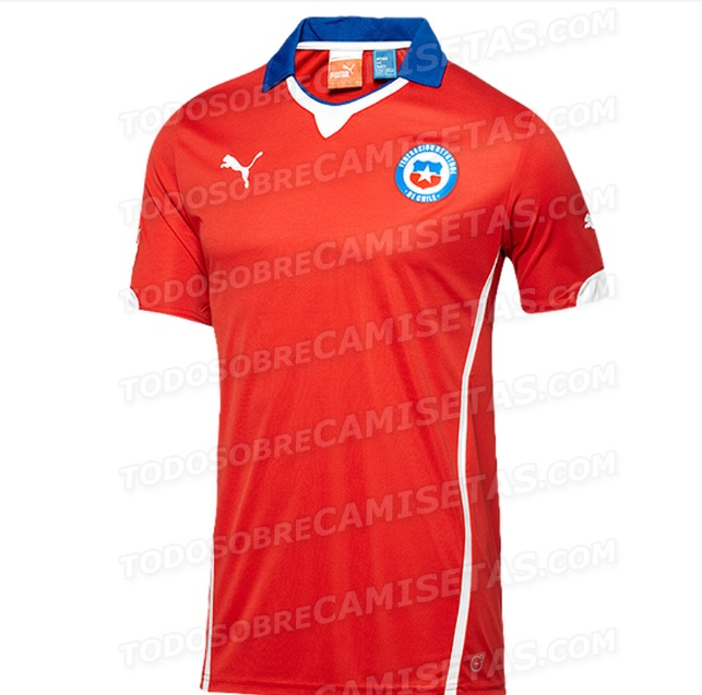 Chile home kit 2014 world cup official