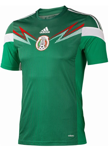 Mexico shirt for FIFA World CUp 2014 home