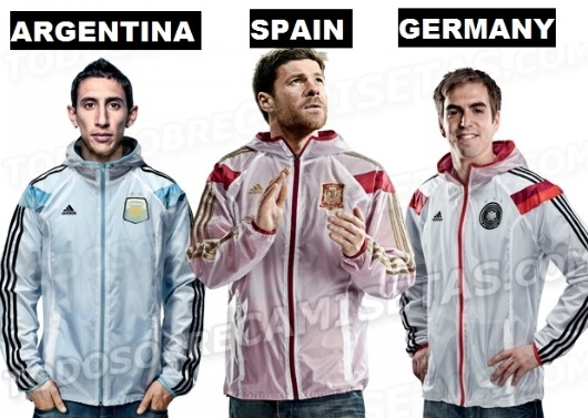Adidas Practice Shirts Jackets 2014 World Cup