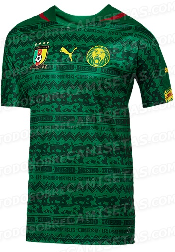Cameroon Home Kit 2014 World Cup