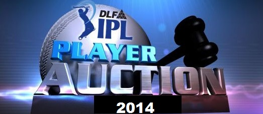 IPL players Auction time date channel 2014