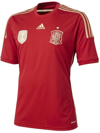 Spain Home Kit 2014 WOrld Cup official