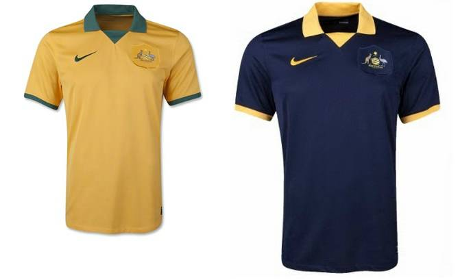 Australian Home away kits 2014
