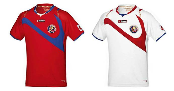 Costa Rica home away kits world cup