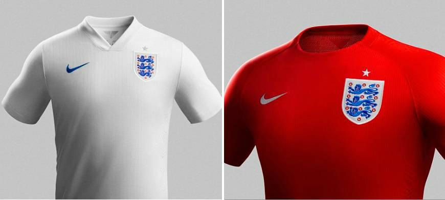 England Kits 2014 World Cup Home Away Shirts Released