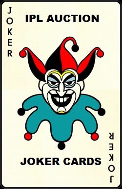 IPL 2014 Auction Joker cards