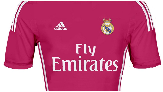 New Real Madrid 2015 away kit pink