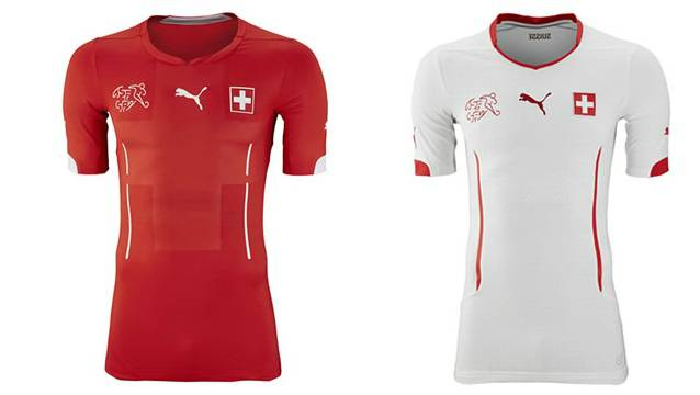 Switzerland home away world cup kits