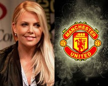 man utd charlize theron