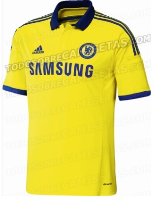 Chelsea yellow away kit