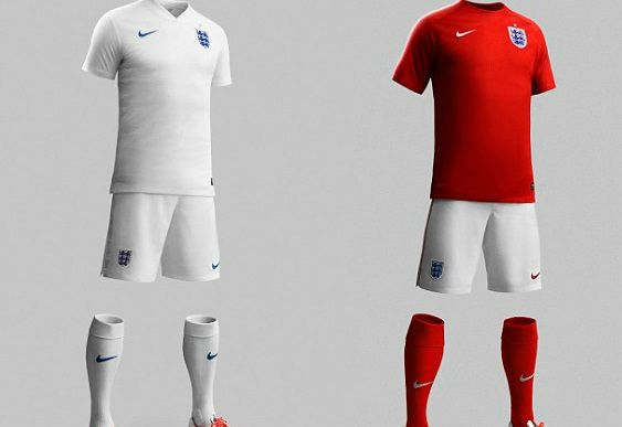 England home away kits