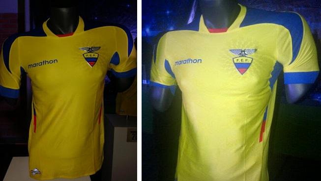 ECUADOR 2014 WORLD CUP HOME KIT